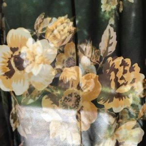 Forever 21 Other - Forever 21 black & yellow floral sheer kimono